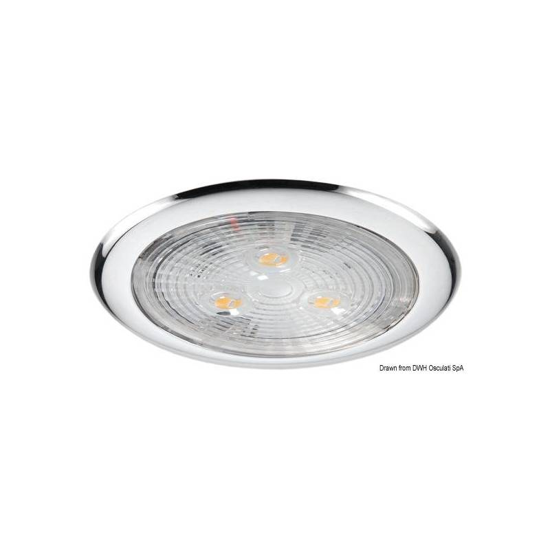 Plafoniera 3 led luce bianca for Led luce bianca