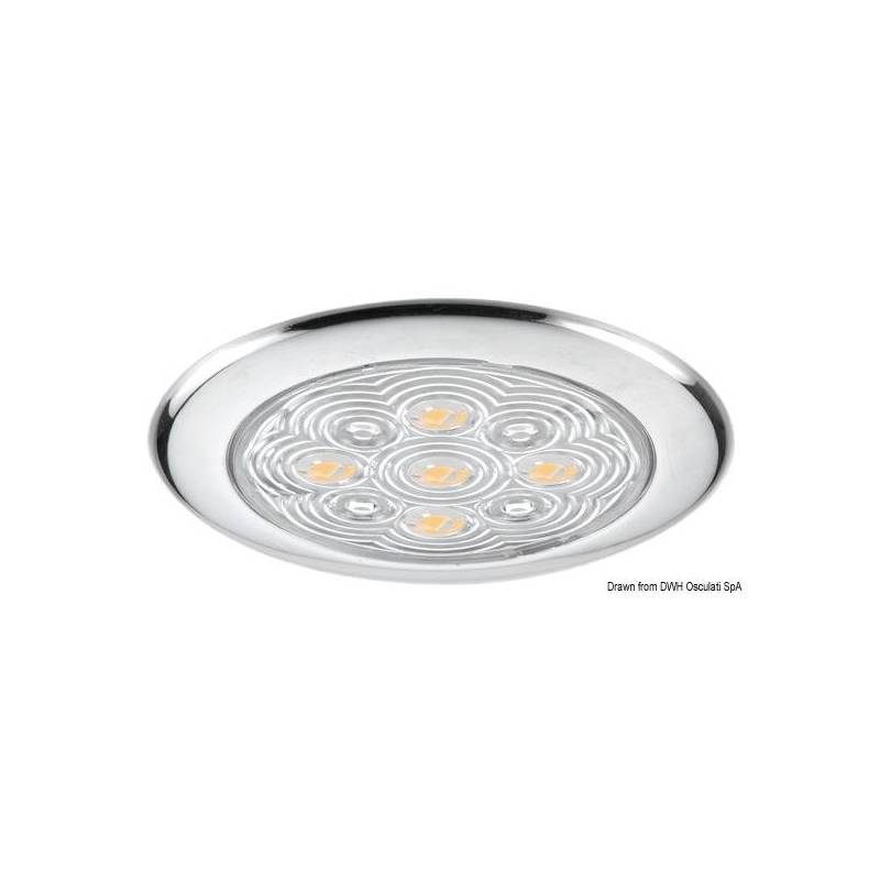 Plafoniera 5 led luce bianca for Led luce bianca