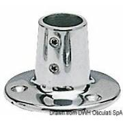 Base inox diritta 22 mm